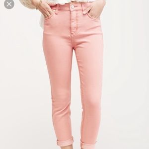 NWT Free People High Rise Roller Skinny - Peach